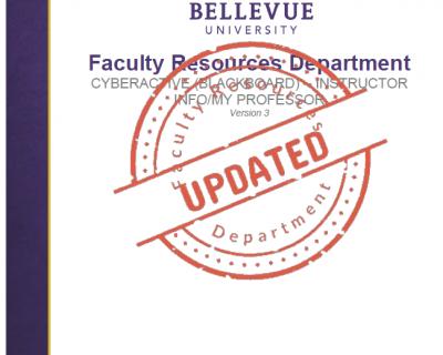 Instructor Info/My Professor Tutorial