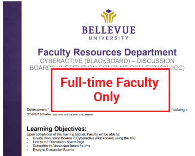 Discussion Boards: ICC Tutorial (Full-time Faculty ONLY)