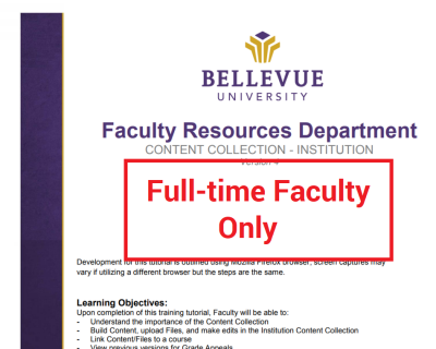 Content Collection: Institution (ICC) Tutorial (Full-time Faculty ONLY)