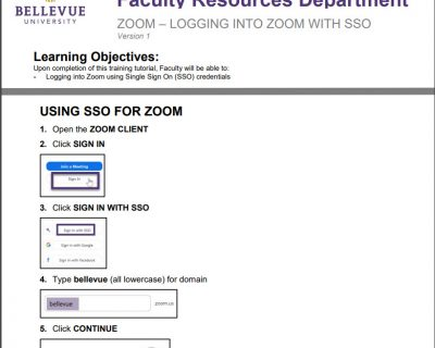 Logging Into Zoom with Single Sign On (SSO) Tutorial