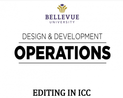 Editing ICC Tutorial (Full-time Faculty ONLY)