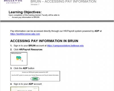 Accessing Pay Information Tutorial