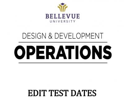 Editing Test Dates in Blackboard Tutorial