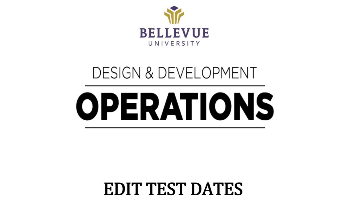 Edit test dates