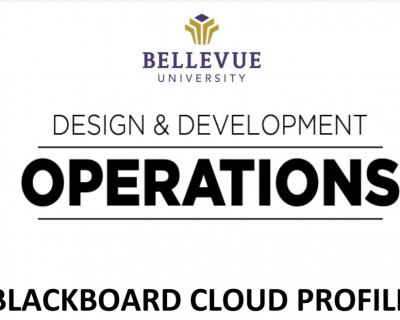 Blackboard Cloud Profile