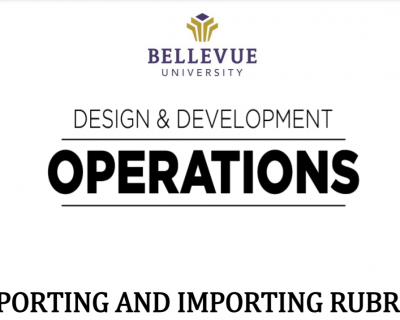 Exporting and Importing Rubrics