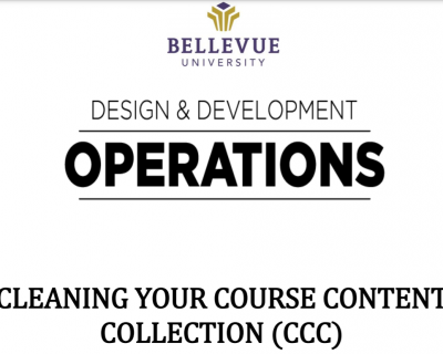 Cleaning Your Course Content Collection