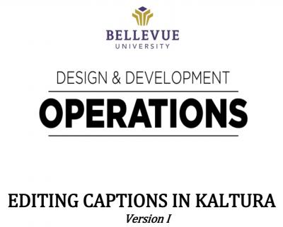 Editing Captions in Kaltura