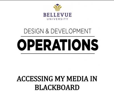 Accessing My Media in Blackboard