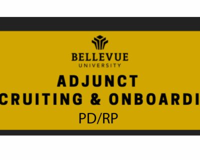 PD/RP: Adjunct Recruiting & Onboarding
