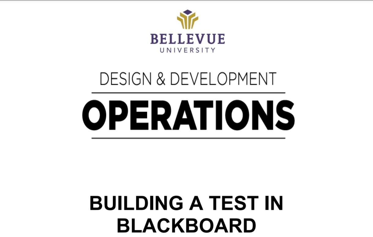 building a test