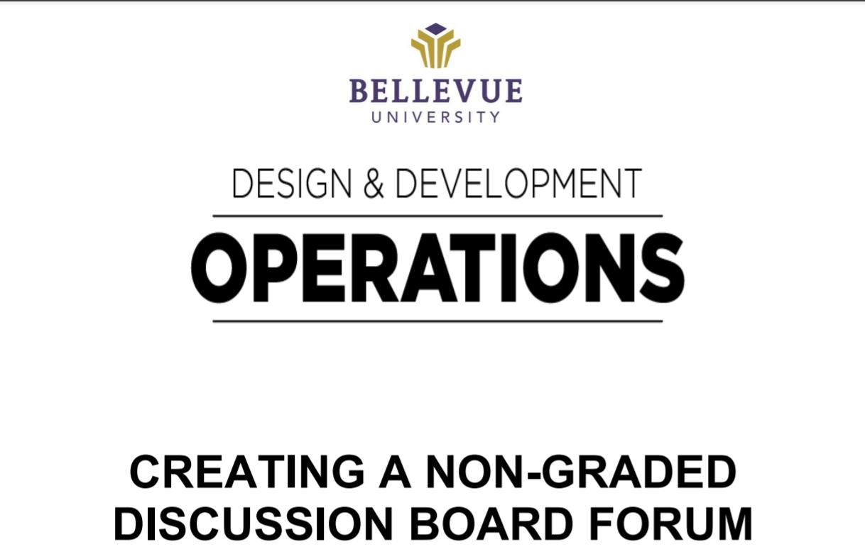 creating non-graded db forum